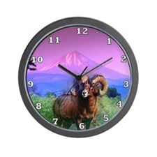 Big Horn Mount McLoughlin Wall Clock