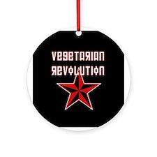 Vegetarian Revolution Ornament (Round)