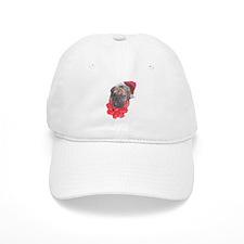 Brindle Santa Pup Baseball Cap