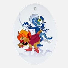 The Miser Brothers Oval Ornament
