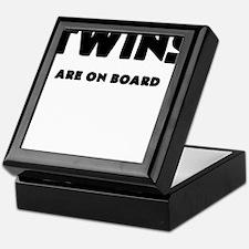 TWINS ARE ON BOARD Keepsake Box