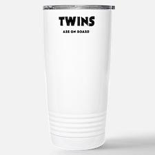 TWINS ARE ON BOARD Travel Mug
