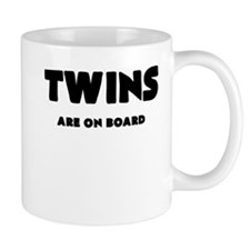 TWINS ARE ON BOARD Mugs