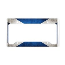 antiqued scottish flag License Plate Holder