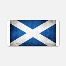 antiqued scottish flag Aluminum License Plate