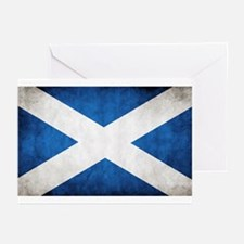 antiqued scottish flag Greeting Cards