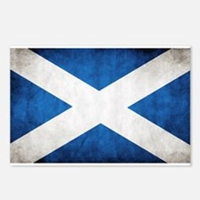 antiqued scottish flag Postcards (Package of 8)