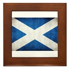 antiqued scottish flag Framed Tile