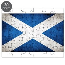 antiqued scottish flag Puzzle