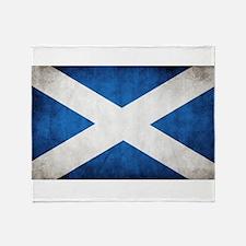 antiqued scottish flag Throw Blanket