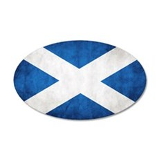 antiqued scottish flag Wall Decal