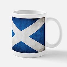 antiqued scottish flag Mugs