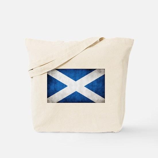 antiqued scottish flag Tote Bag