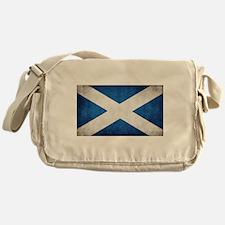 antiqued scottish flag Messenger Bag