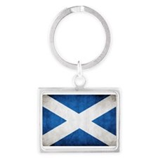 antiqued scottish flag Keychains