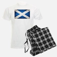 antiqued scottish flag Pajamas