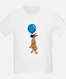 C Brindle Balloon Pup Kids T-Shirt