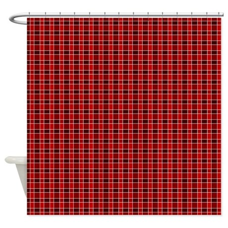 Red And Brown Tartan Shower Curtain By GraphicAllusions