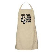 DRINK TWICE AS MUCH Apron