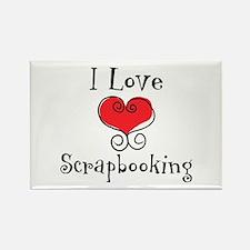 I Love (heart) Scrapbooking Rectangle Magnet