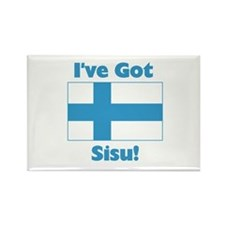 Finnish Sisu Rectangle Magnet