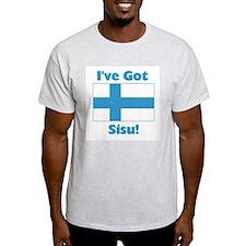 Finnish Sisu Ash Grey T-Shirt