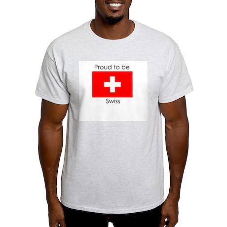 Proud to be Swiss Ash Grey T-Shirt