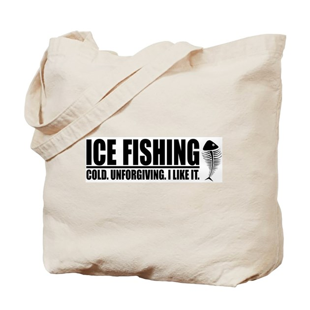 Ice fishing tote bag by tgdesigns for Ice fishing bag