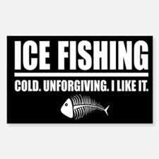 ICE FISHING Rectangle Decal