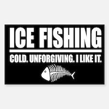 ICE FISHING Rectangle Decal