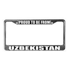 Uzbekistan License Plate Frame