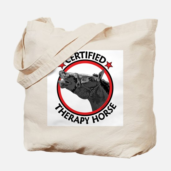 Certified therapy horse. Tote Bag