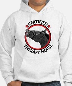 Certified therapy horse. Hoodie