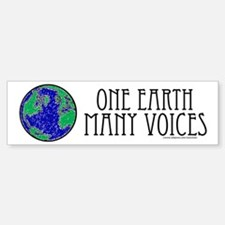 One Earth Bumper Bumper Bumper Sticker