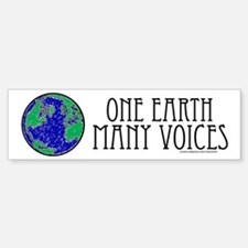 One Earth Bumper Car Car Sticker