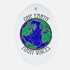 One Earth Oval Ornament