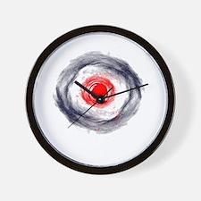Splatter Bullseye Wall Clock