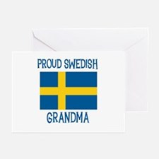 Proud Swedish Grandma Greeting Cards (Pk of 10