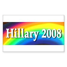 Hillary Rainbow Rectangle Decal