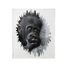 Gorilla 001 Throw Blanket