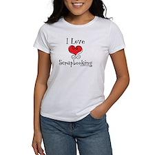 I Love (heart) Scrapbooking Tee