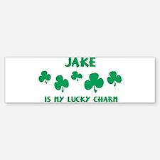 Jake is my lucky charm Bumper Bumper Bumper Sticker