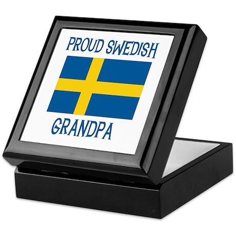 Proud Swedish Grandpa Keepsake Box
