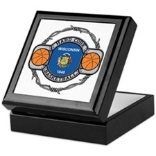 Wisconsin Basketball Keepsake Box