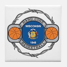 Wisconsin Basketball Tile Coaster