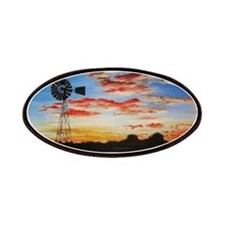windmill sunset Patches