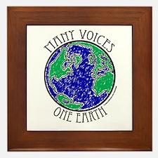 One Earth #2 Framed Tile