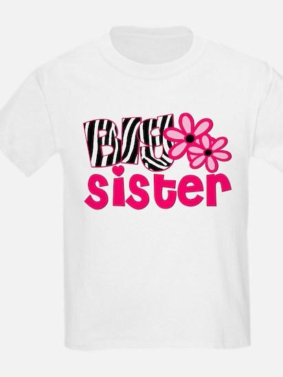 Big Sister Floral Zebra T-Shirt