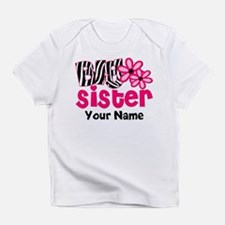 Big Sister Zebra floral Infant T-Shirt