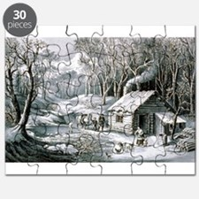 Home in the wilderness - 1870 Puzzle
